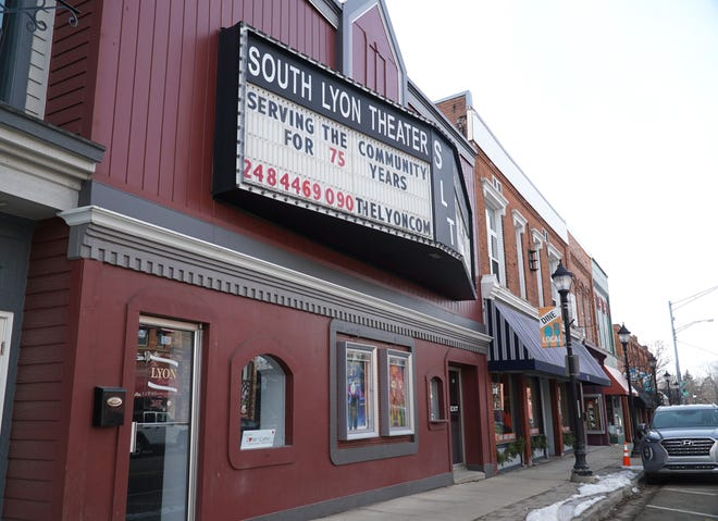 The South Lyon Theater along Lake Street.