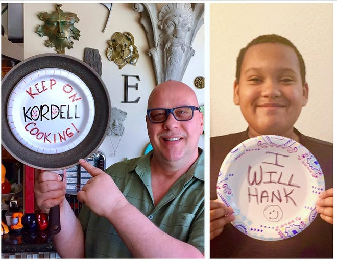 Despite the pandemic, Hank and Kordell continue to inspire each other virtually.