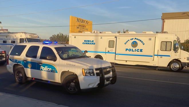 Phoenix police officers shot a man near 35th Avenue and Buckeye Road on Jan. 12, 2021.
