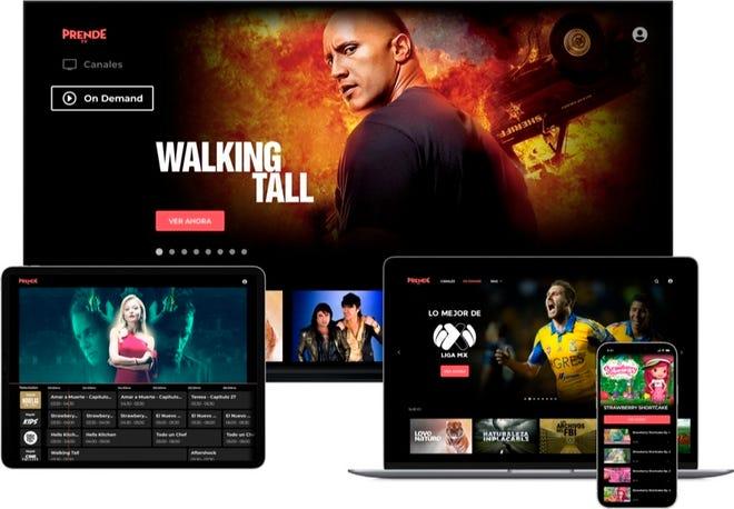 Imagen del producto ofrecido por el servicio de vídeo en directo PrendeTV anunciado este martes por la  cadena Univision.