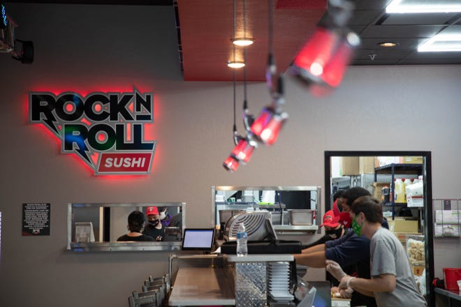 Tallahassee's first Rock-n-Roll Sushi franchise, a music-themed sushi restaurant will open Monday, Jan. 18, 2021.