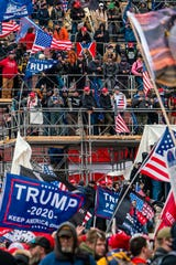 January 6, 2021;  Washington, DC, USA;  Protests in Washington, DC as the US Congress meets to formally ratify Joe Biden as the winner of the 2020 presidential election on January 6, 2021.Mandatory Credits: Jarrad Henderson-USA TODAY NETWORK ORG XMIT: USATODAY-445864 [Via MerlinFTP Drop]