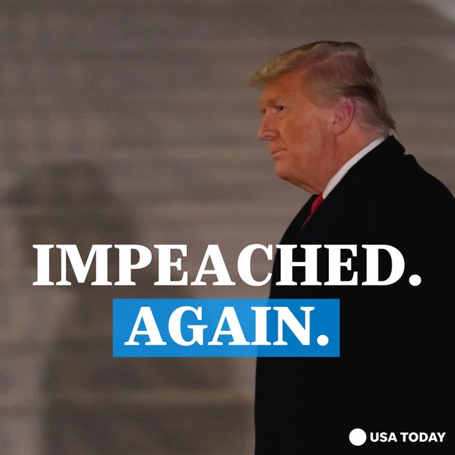 President Donald Trump is impeached for a second time.