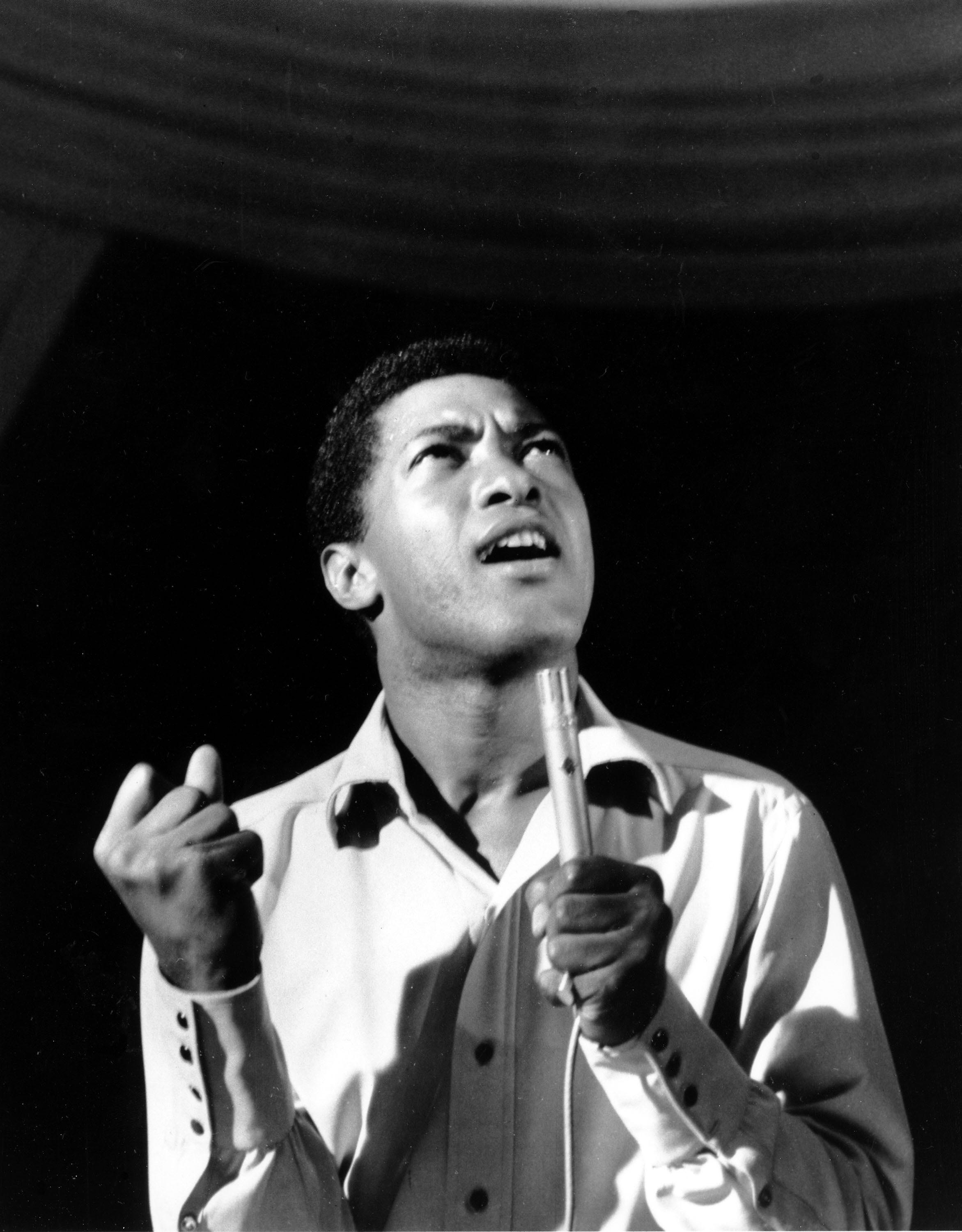 Singer Sam Cooke performs at a concert in New York's Copacabana night club in this undated photo.  (AP Photo) ORG XMIT: APHS141 [Via MerlinFTP Drop]