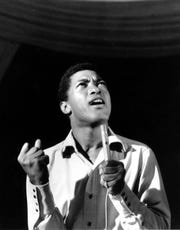 Soul singer Sam Cook performs at this undated photo at Copacabana nightclub in New York.