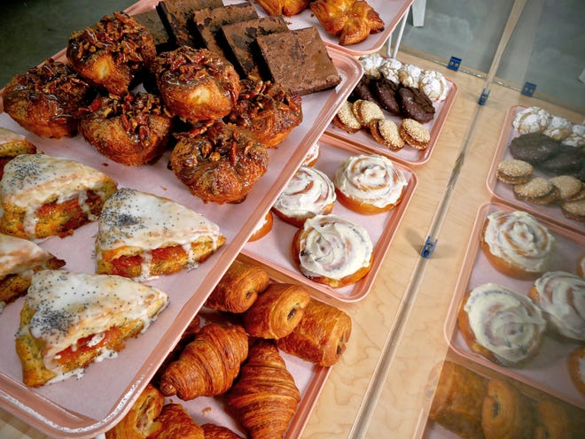 The pastry case at Abby Jane Bakeshop, which opens in Dripping Springs January 21.