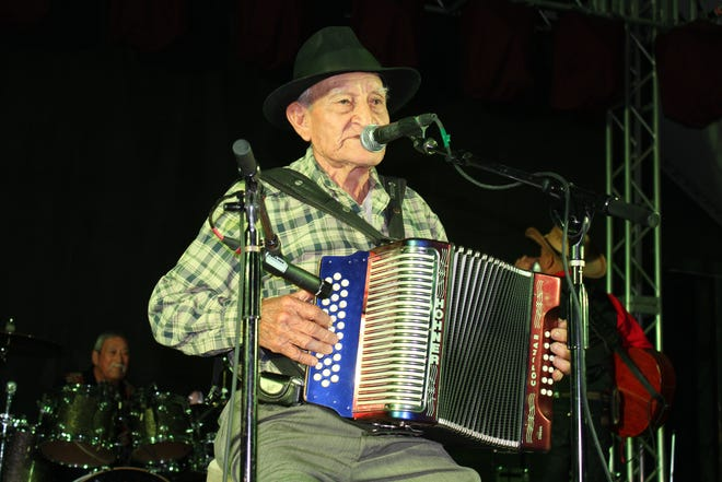 Chencho Flores at the 2017 Rancho Alegre Conjunto Music Festival at Stubb's. Flores died Jan. 10 at age 91.
