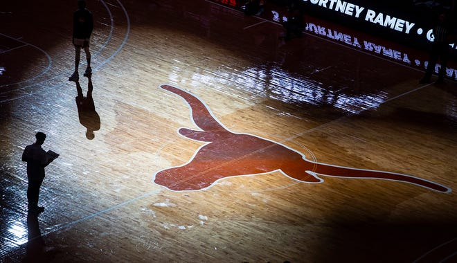 Texas Longhorns take the court against Texas Tech Red Raiders during an NCAA college basketball game Wednesday, Jan. 13, 2021, in Austin, Texas.