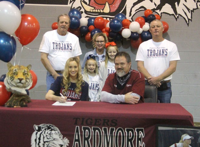 Ardmore High School senior Avery Lowe signs to play softball at Seminole State. Lowe batted .479  and finished with a .858 fielding percentage to earn first-team all-district honors at shortstop during her senior campaign.