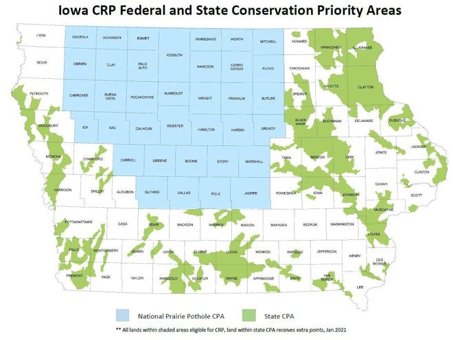 Conservation priority areas.