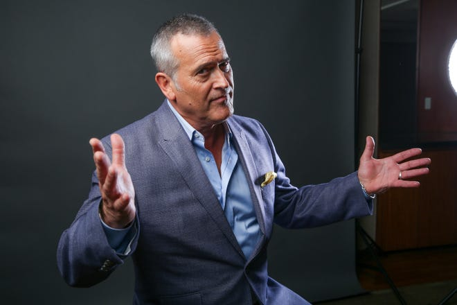 """Bruce Campbell, shown in 2016, is taking part in an online """"worldwide watch party"""" of """"The Evil Dead"""" on Saturday and providing running commentary."""