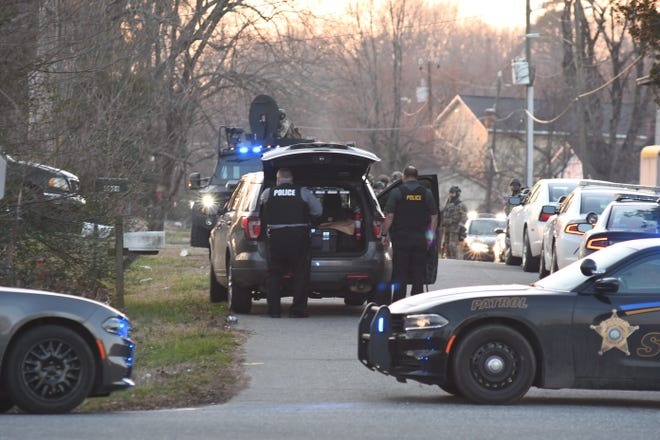 The Liberty Police Department and Randolph County Sheriff's Office responded to a domestic violence call where the suspect barricaded himself inside a home.