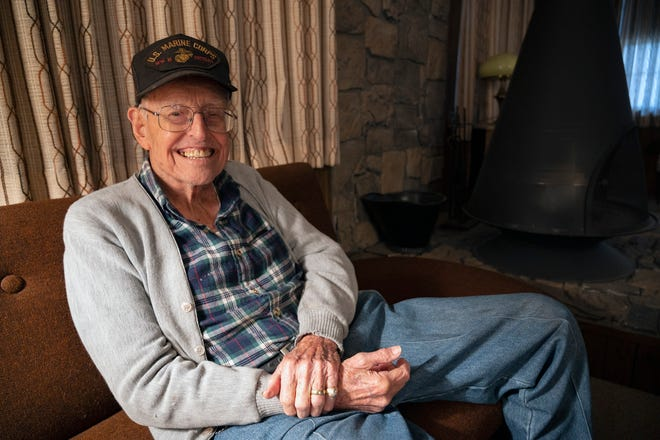 96-year-old World War II veteran Ben Dodson at his home in Altoona.