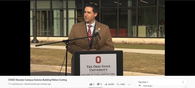 Ohio Secretary of State Frank LaRose visited Wayne County on Jan. 14 for an event celebrating the opening of the new science building on the CFAES Wooster campus.