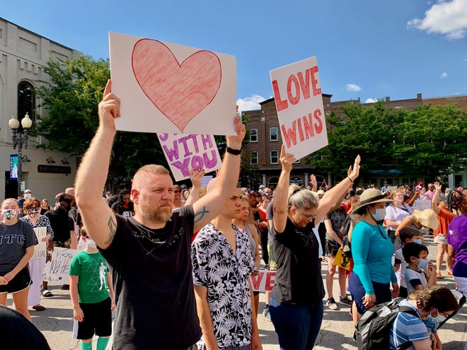 Hundreds of Columbia citizens gather on the downtown square as part of a unity rally in June of 2020, celebrating diversity and building a stronger community.