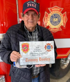 Tommy Dooley, who served 33 years with Columbia Fire & Rescue from 1968-2001, was selected as this year's recipient of the Chief Tommy Hemphill Retiree of the Year Award.