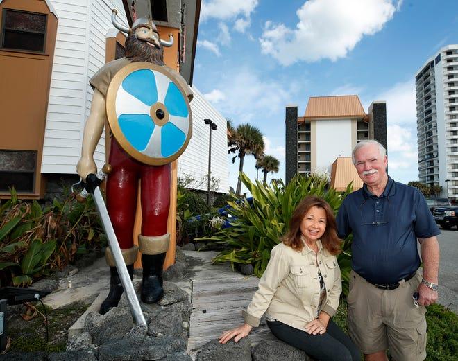 Gary and Barbara Brown at their Sun Viking Lodge in Daytona Beach Shores, Monday, Jan. 11, 2021.