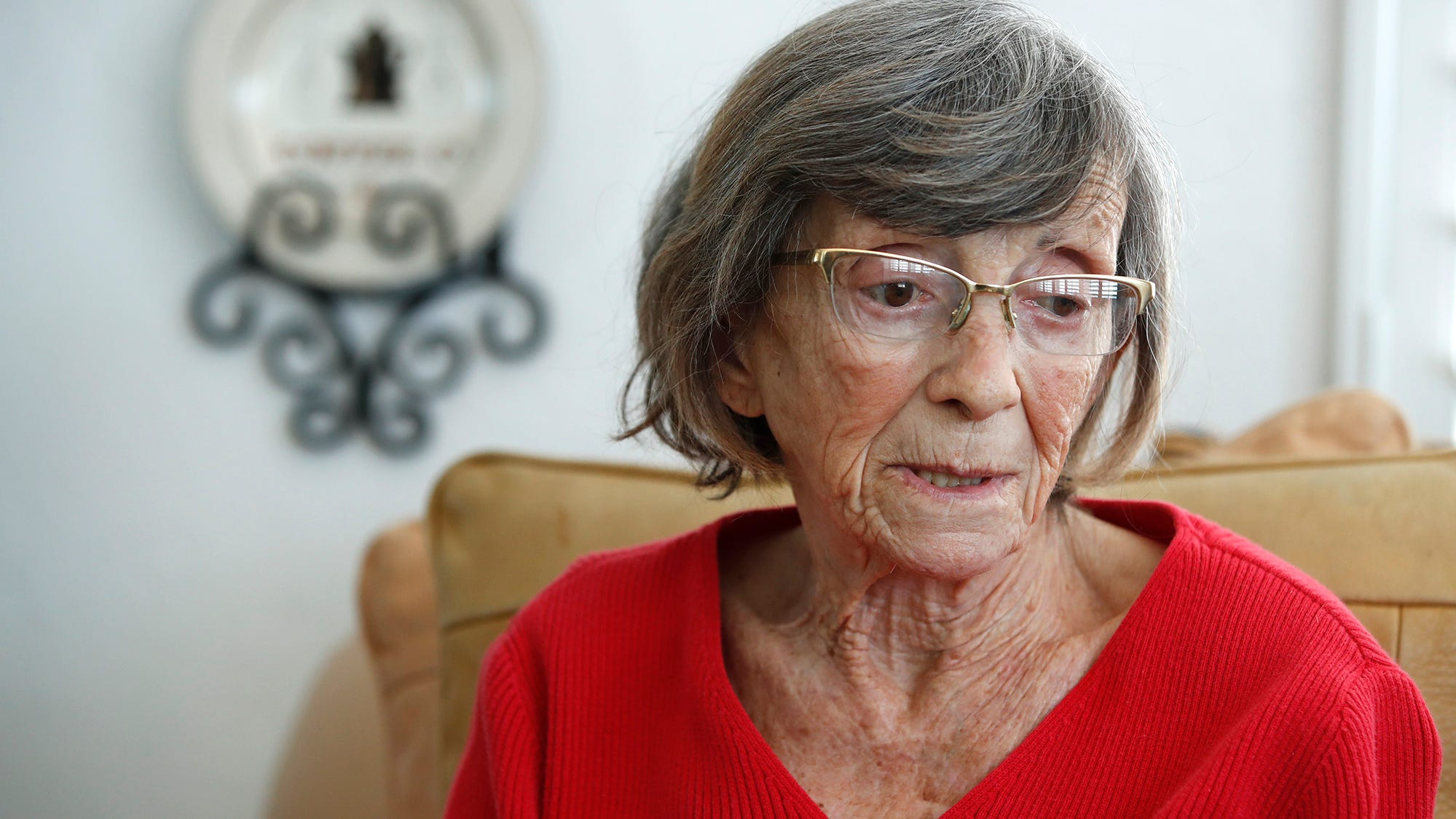 """Mary Tornabene, 92, talks about her unsuccessful efforts to get the COVID vaccine. """"I couldn't wait all night in the cold,"""" Tornabene said of the prospect of joining seniors hwo did that at a recent vaccination event in Daytona Beach. """"I can wait, but not for eight hours."""""""