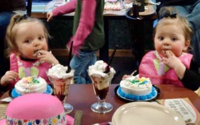 Twins Lilly and Josie Timmerman. They would have celebrated their 13th birthdays together on Jan. 25. Lilly recently passed away after losing her fight with Acute Myeloid Leukemia.
