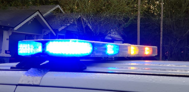 Jacksonville police car lights.