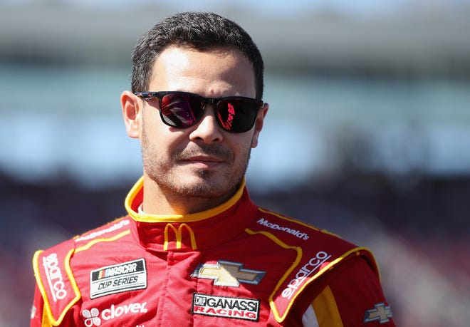 Kyle Larson, the driver of the (42) McDonald's Chevrolet, stands on the grid during qualifying for the NASCAR Cup Series FanShield 500 at Phoenix Raceway on March 7, 2020 in Avondale, Ariz.