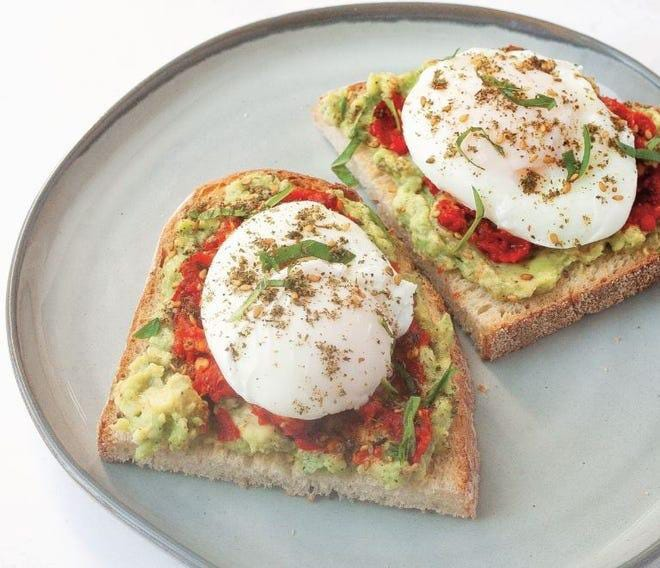"""These eggs topped with breadcrumbs and greens are from """"Start Simple"""" by Lukas Volger."""