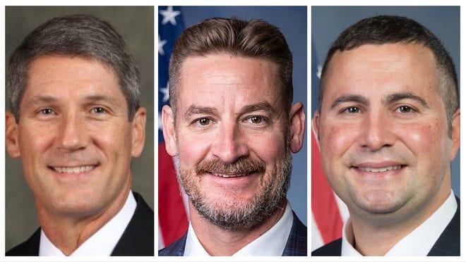 Polk's U.S. House representatives, from left, Scott Franklin, Greg Steube and Darren Soto