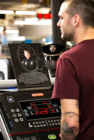 On Thursday, family and friends took turns on Treadmill 12, which was the late Ocala Police Chief Greg Graham's favorite treadmill at the Zone Health & Fitness club in Ocala. The treadmill has been memorialized since Graham's death last year. The first Chief Greg Graham Legacy Walk raised $150,000.