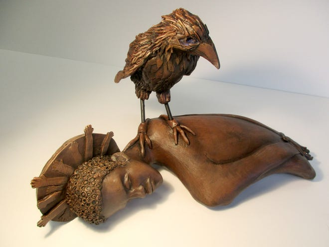 """""""Bird of Ill Omen"""" by Shawn Henderson is part of the """"Karibu: A Celebration of Black Artists in Palm Beach County,"""" an exhibit that opens Monday at the Cultural Council. CULTURAL COUNCIL FOR PALM BEACH COUNTY"""