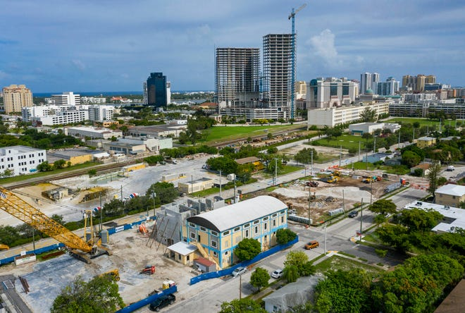 The Sunset Lounge is being brought back to life as part of a neighborhood revival north of downtown that includes the $12.5 million-plus building at North Rosemary Avenue and 8th Street in West Palm Beach, Florida on July 23, 2020.