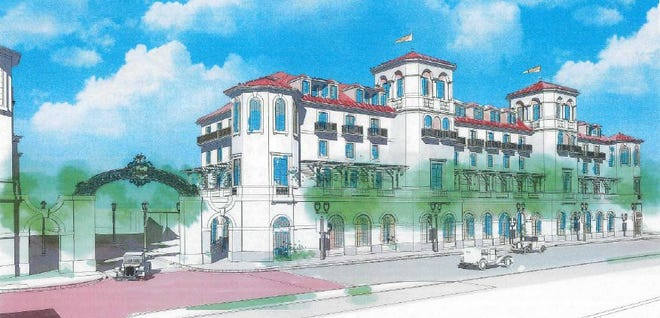 Mixed-use building proposed for the former Carefree Theater site on South Dixie Highway. The plans are now on hold.