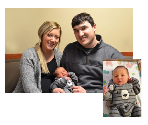 Otto Scott Helget, son of Saydi and Nolan Helget is the first baby born at SEMC in 2021.