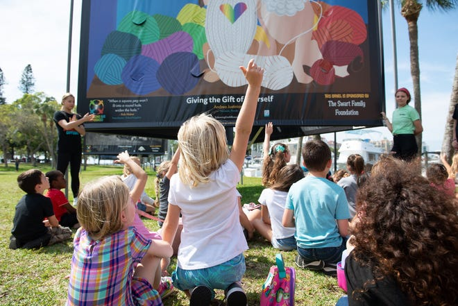 Children enjoy a field trip to the Sarasota bayfront during an Embracing Our Differences learning event.