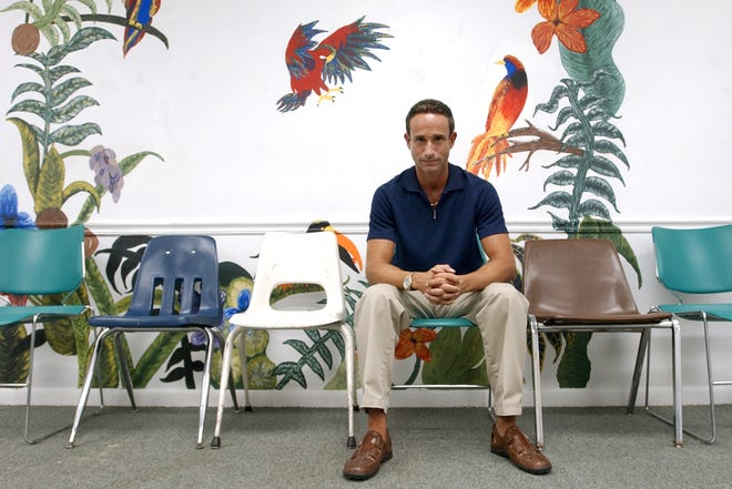 Mental health counselor Chris Carchiolo of Coastal Behavioral Healthcare, which recently merged with First Step of Sarasota, sits in an empty group therapy room in 2006. Sarasota County commissioners are considering funding options for mental health services, including a special taxing district.