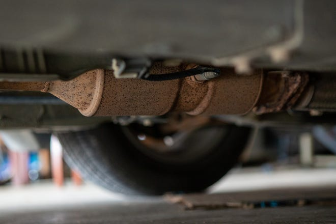 Topeka saw a significant rise last year in the theft of catalytic converters. The car part is a target because of the precious metals it contains and the relative ease with which it can be stolen, particularly from taller vehicles.