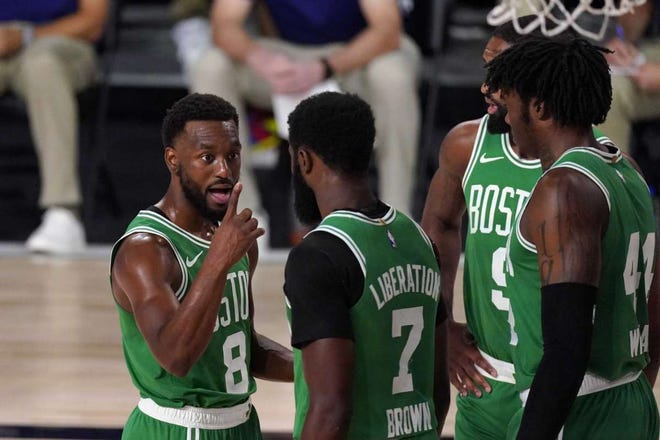 Kemba Walker (left) wants to be in fine form when he returns to the Celtics lineup.