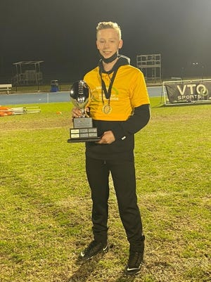 Gray's Creek's Tyler Davis was a finalist in the quarterback accuracy competition at the VTO Sports All-American Challenge, held at the IMG Academy in Bradenton, Fla., Jan. 9-10, 2021.