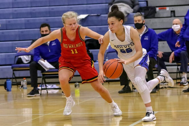 Amya Harris (right) has been a key player for Kilbourne, leading the Wolves with 28 steals through eight games while averaging 11.4 points. She was the second-leading scorer behind Lauren Scott, who was averaging 25.1 points.