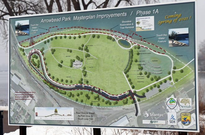 Arrowhead Park is being developed on top of a capped landfill on the south end of Little Lake Butte des Morts.
