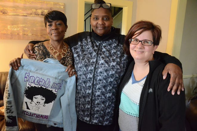 Doris Taylor, from left, Kisha Bryant and Carrie Ross are survivors of domestic violence.