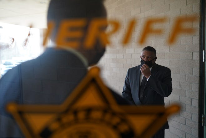 Flint Department of Public Works Director Howard Croft exits after video arraignment at the Genesee County Jail in Flint on January 14, 2021 on new Flint Water Crisis charges.