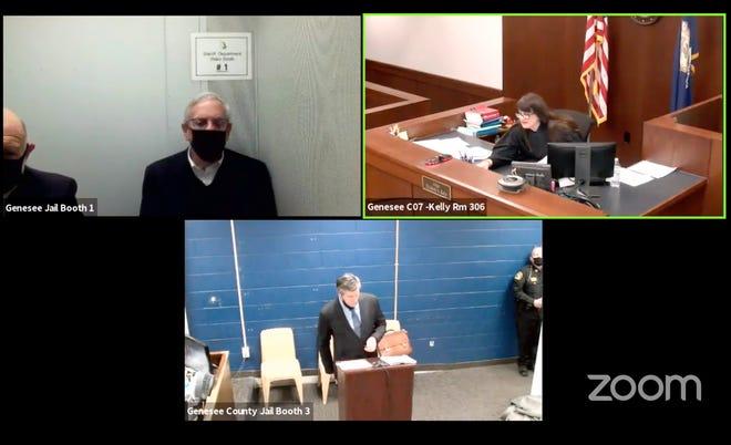 Mantan Manajer Darurat Flint Gerald Ambrose hadir di pengadilan, Kamis, 14 Januari 2021.