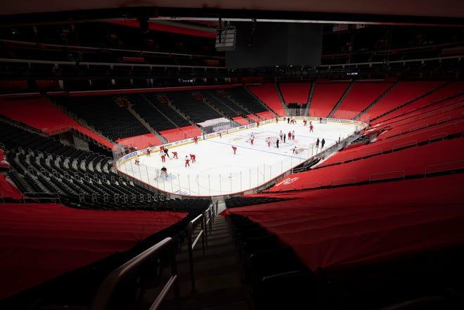Pembuka musim Red Wings - dan mungkin semua pertandingan kandang mereka - akan dimainkan tanpa penggemar di Little Ceasars Arena.