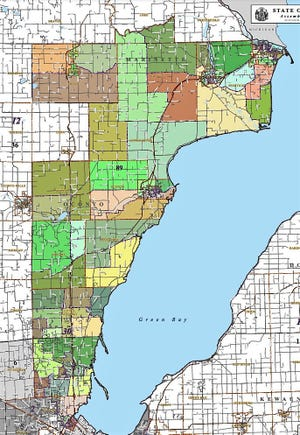 Wisconsin 89th Assembly District map.