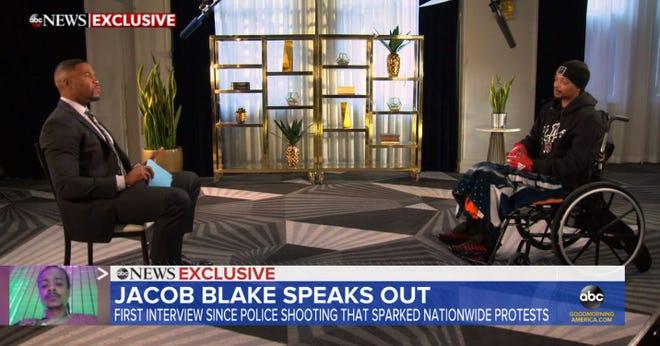 Jacob Blake speaks to Michael Strahan on 'Good Morning America' about being shot by Kenosha Police Officer Rusten Sheskey.