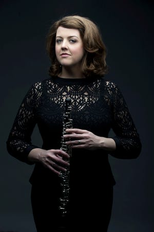 Oboist Katherine Young Steele will play the first notes in the Milwaukee Symphony's new concert hall on Feb. 6.