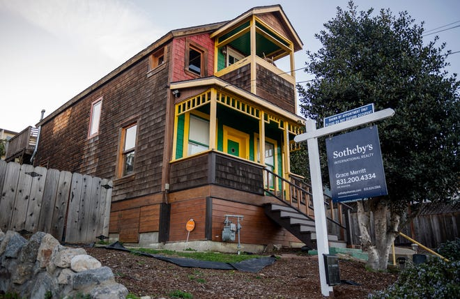 The 'Monterey Boat House' is on sell in Monterey, Calif., on Wednesday, Jan., 13, 2021.