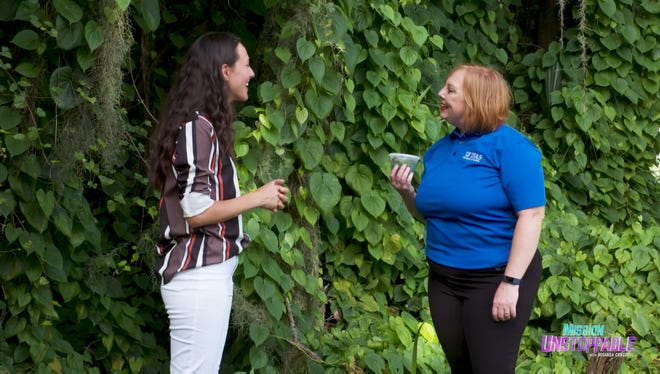 """Carey Minteer (right), an assistant professor of entomology at the UF IFAS  Indian River Research and Education Center in Fort Pierce, will be featured on CBS' """"Mission Unstoppable"""" Jan. 16 for her work using insects to curb invasive plant species in Florida."""