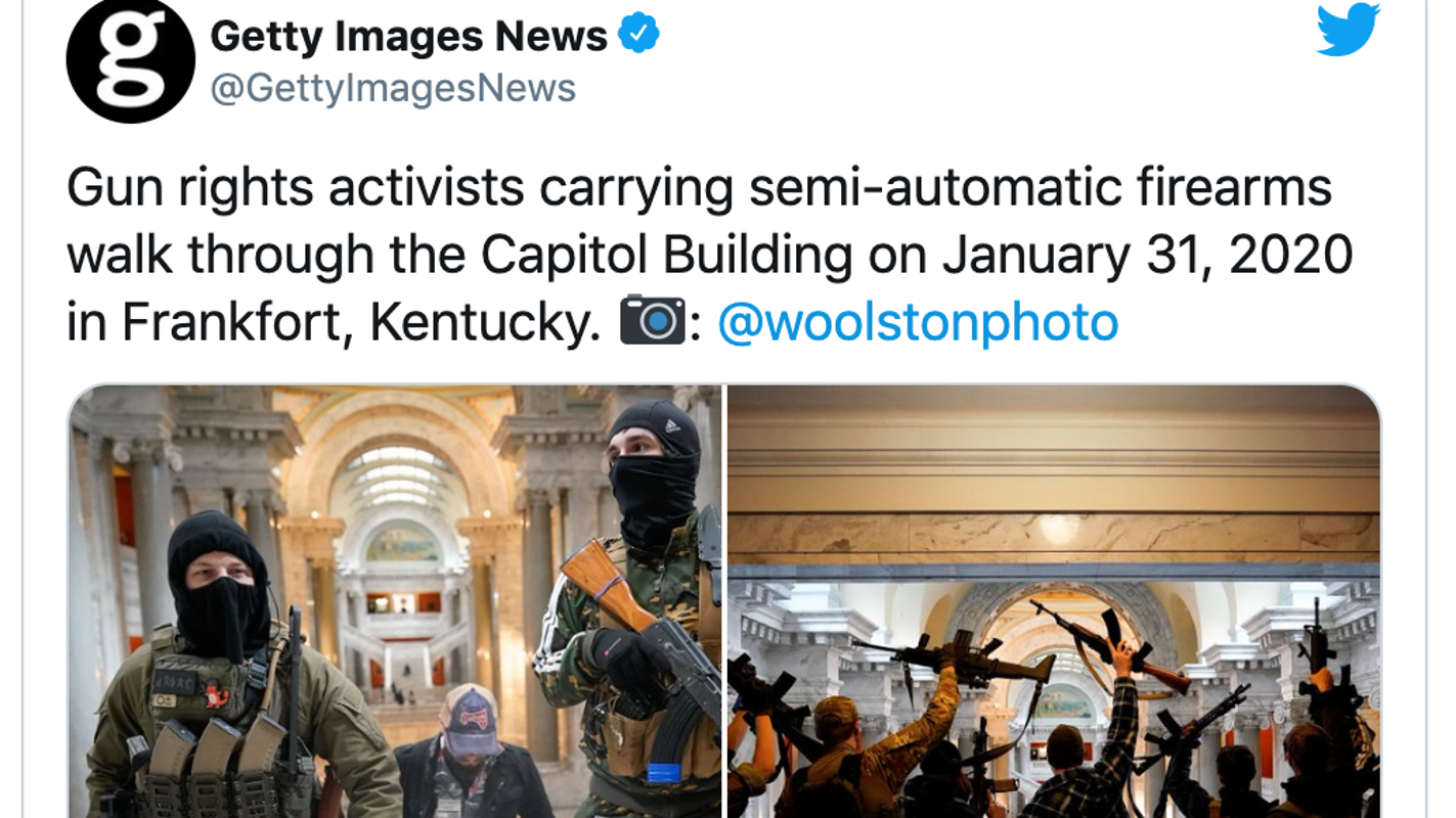 With armed protests planned after D.C. attack, ban open carry of guns at state capitols