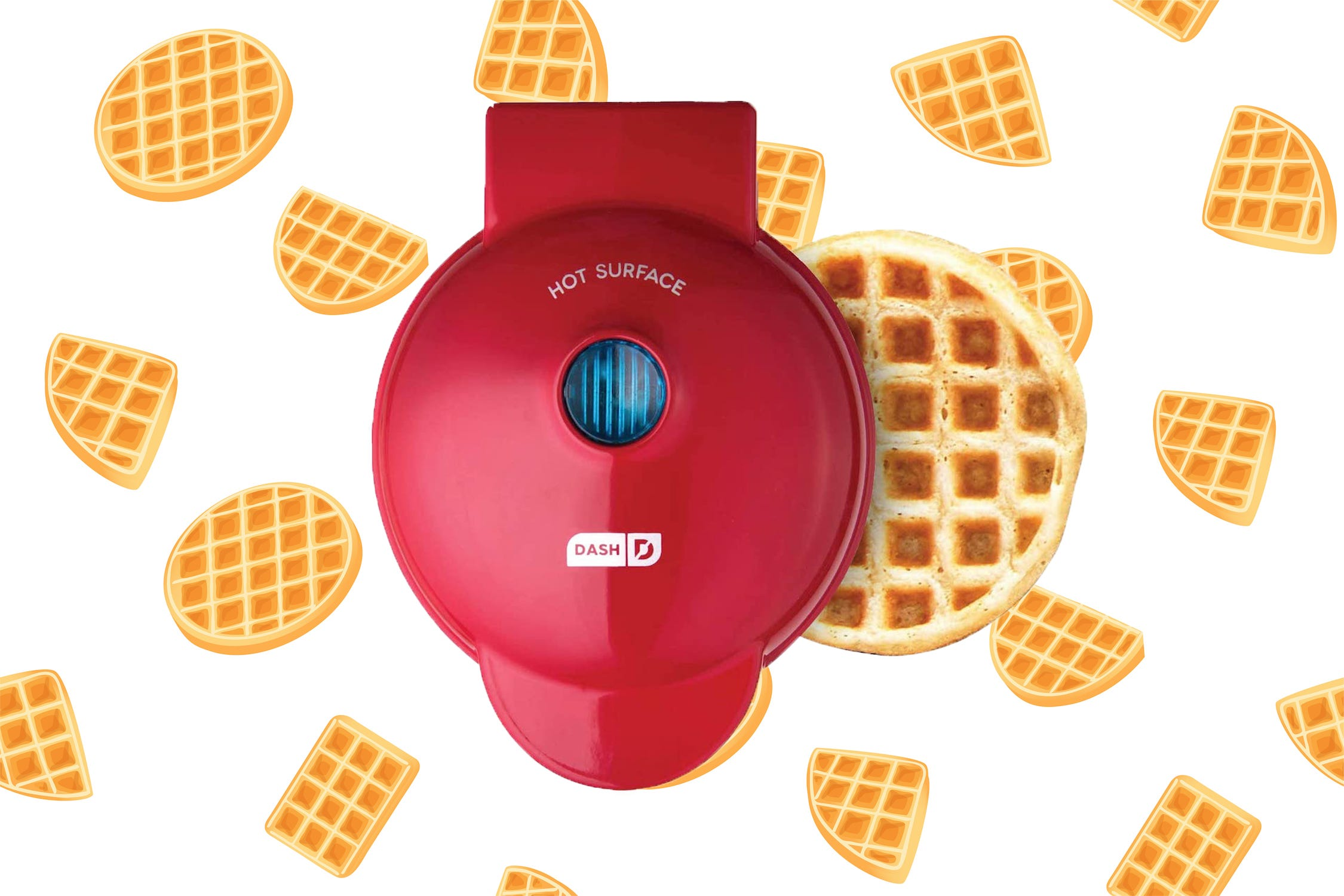 Readers adore this mini waffle maker—and it's on sale for $10 today